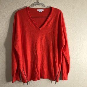 EUC Liz Claiborne orange sweater